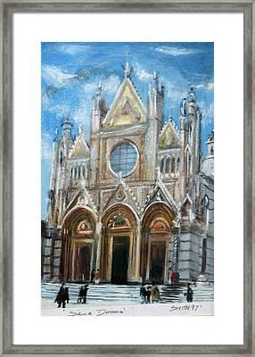 Duomo Sienna Framed Print by Tom Smith