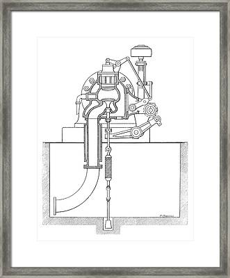 Duplex Engine Distribution Framed Print by Science Photo Library