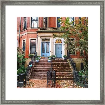Duplex On Marlborough Street Framed Print