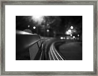 Dupont Circle Circle Bench Framed Print by Michael Williams