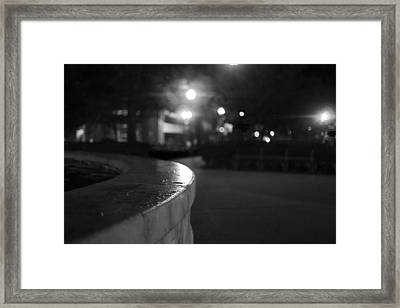 Dupont Circle Fountain Side Framed Print by Michael Williams