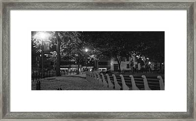 Dupont Circle Panorama Framed Print by Michael Williams