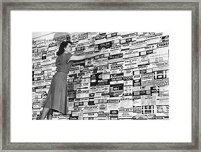 Dupont Products Label Display, 1940s Framed Print by Hagley Archive