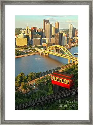Duquesne Incline Portrait Framed Print by Adam Jewell