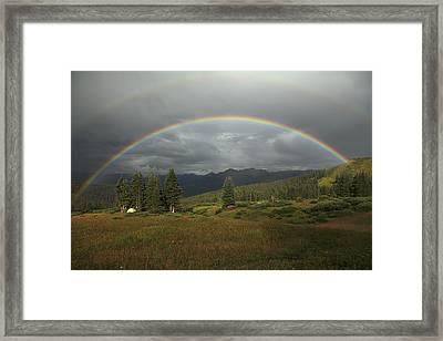 Durango Double Rainbow Framed Print