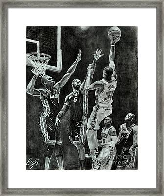 Durant For The Win Framed Print