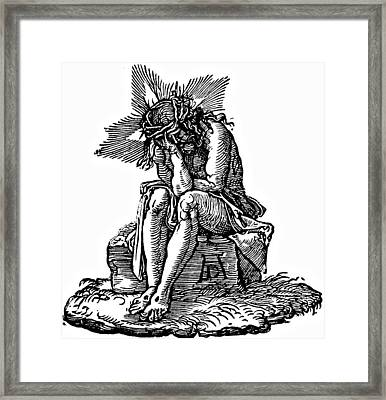 Durer Engraving Christ Suffering Framed Print by