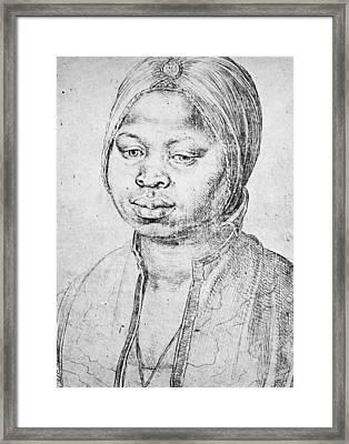 Durer Slave Woman, 1521 Framed Print by Granger