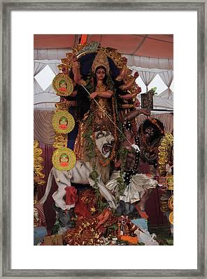 Durga Framed Print by Bliss Of Art