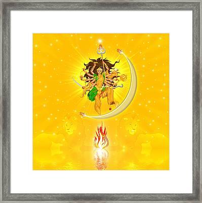 Durga Framed Print by Harald Dastis