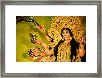 Durga Idol Framed Print by Money Sharma