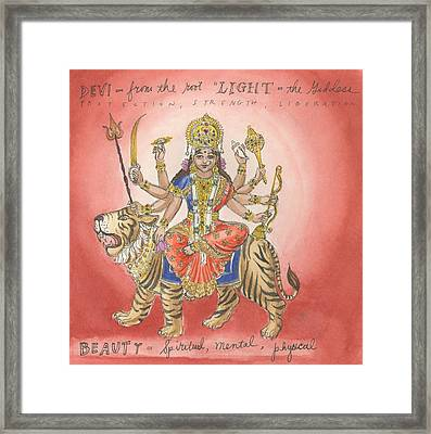 Durga Framed Print by Jennifer Mazzucco