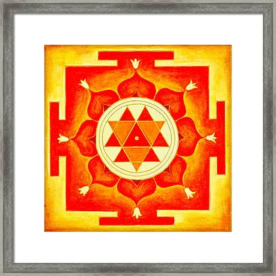 Durga Yantra Is A Powerful Yantra For Transformation Of Consciousness Framed Print by Raimond Klavins