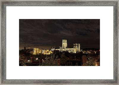 Durham Cathedral And Castle Illuminated Framed Print