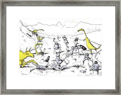 During A Considerable Portion Of The Year The Skating Framed Print
