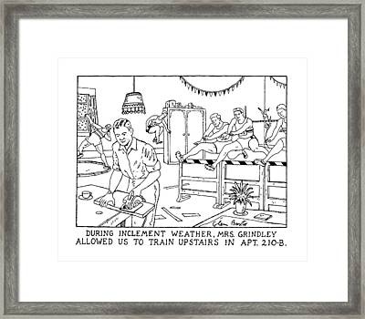 During Inclement Weather Framed Print by Glen Baxte