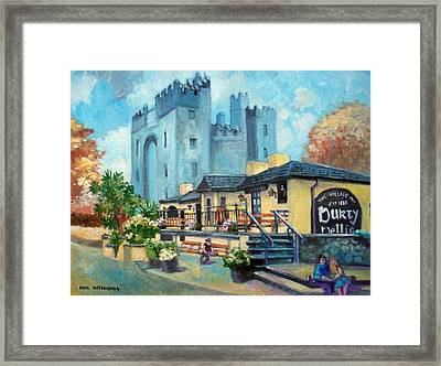 Framed Print featuring the painting Durty Nellies  Co Clare Ireland by Paul Weerasekera