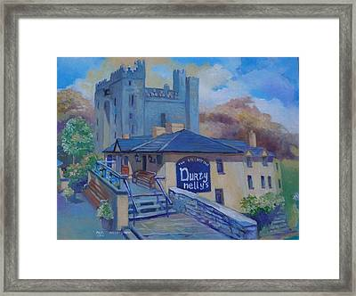 Durty Nellys And  Bunratty Castle Co Clare Ireland Framed Print