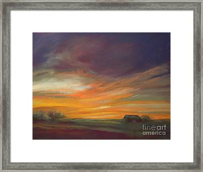 Dusk Framed Print by Addie Hocynec