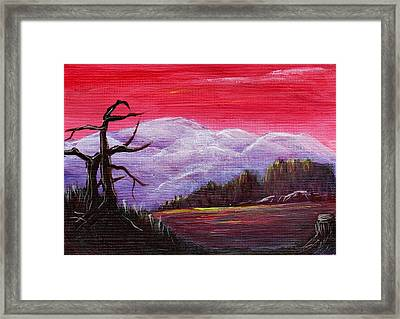 Dusk Framed Print by Anastasiya Malakhova
