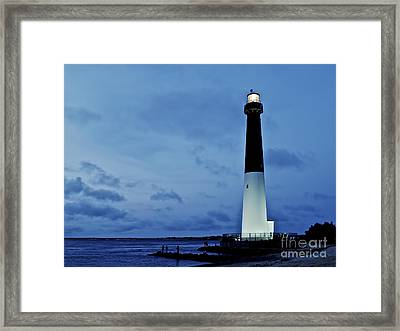 Dusk At Barnegat Lighthouse Framed Print