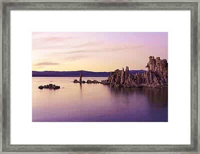 Dusk At Mono Lake Framed Print by Priya Ghose