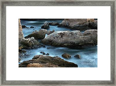 Framed Print featuring the photograph Dusk At Montana De Oro by Michael Rock