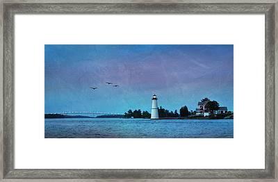 Dusk At Rock Island Framed Print