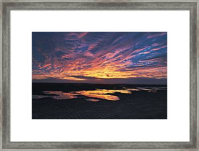 Dusk At The Beach Framed Print