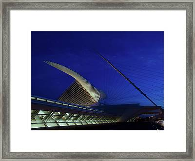 Framed Print featuring the photograph Dusk At The Calatrava by Chuck De La Rosa