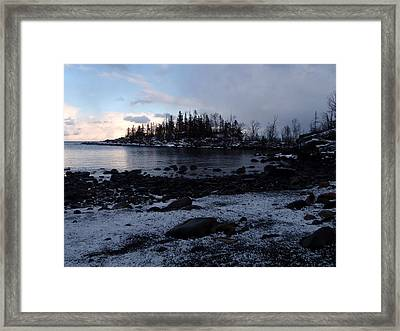 Dusk At The Cove Framed Print by James Peterson