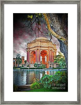 Dusk At The Palace Of Fine Arts In The Marina District Of San Francisco II Altered Version Framed Print by Jim Fitzpatrick