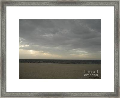 Dusk Beach Walk  Framed Print