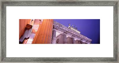 Dusk, Brandenburg Gate, Berlin, Germany Framed Print