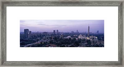 Dusk Cairo Gezira Island Egypt Framed Print by Panoramic Images