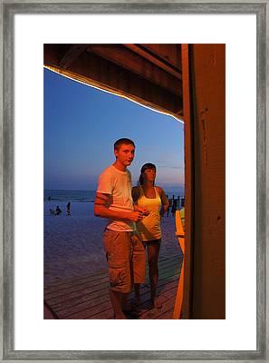 Dusk Couple Framed Print by JD Harvill