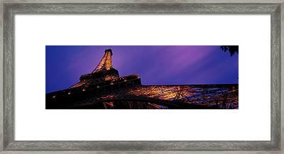Dusk Eiffel Tower Paris France Framed Print