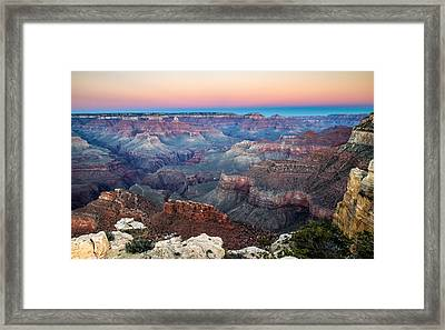 Dusk In Grand Canyon National Park Framed Print