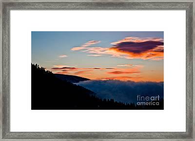 Dusk In Rila Mountain  Framed Print