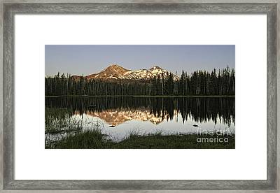 Dusk In The Cascades Framed Print