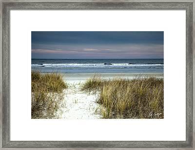 Dusk In The Dunes Framed Print