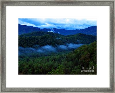 Dusk In The Smoky Mountains   Framed Print by Nancy Mueller