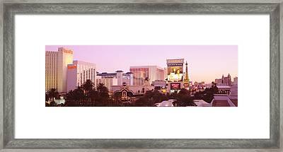 Dusk Las Vegas Nv Framed Print by Panoramic Images