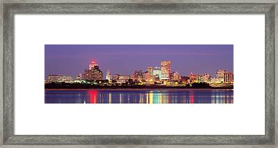 Dusk, Memphis, Tennessee, Usa Framed Print by Panoramic Images