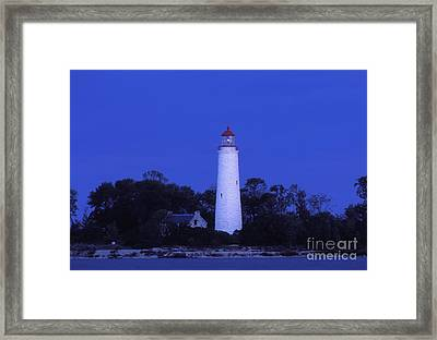 Dusk On Chantry Island - Fs000820 Framed Print by Daniel Dempster