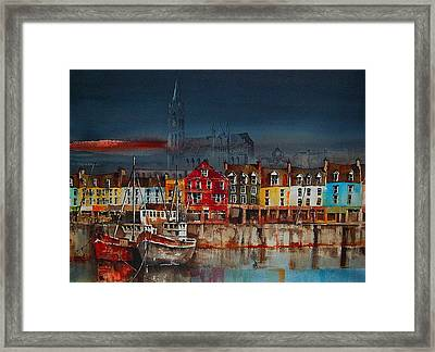 Dusk On Cobh Harbour Cork Framed Print
