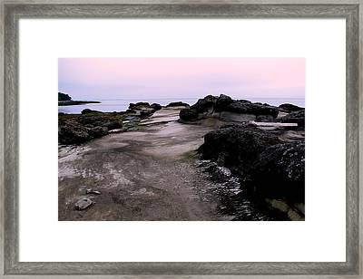Dusk On Hornby Island Framed Print by Annie  DeMilo