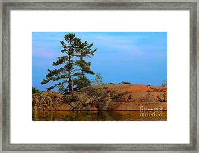 Dusk On Killarney Channel Framed Print