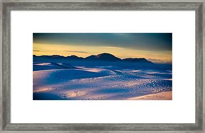 Dusk On Planet Earth Framed Print