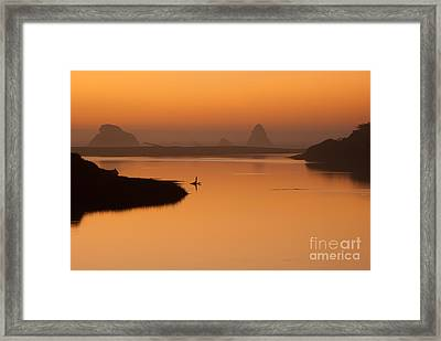 Dusk On Russian River - 7058 Framed Print by Stephen Parker